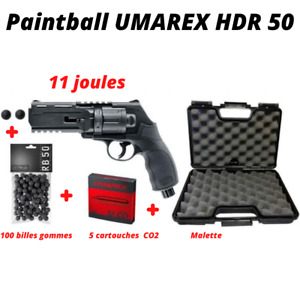 Pack complet HDR 50 Umarex 11J Home Defense malette billes cartouches CO2 NEUF