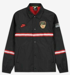 Nike X FDNY Firefighter Jacket New York NYC Fire Department Black Large *Rare