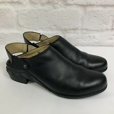 Women's ARIAT Shoes 11M Convertible Slip On Work Clogs Genuine Black Leather