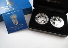 2012 DIAMOND JUBILEE - H.M ELIZABETH II - TWO COIN SET