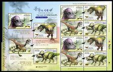 Korea Süd 2012 Dinosaurier Dinosaurs III Prähist. Tiere 2895-2898 Kleinbogen MNH
