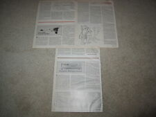 Shure Review, SME III Tone Arm, 1979, 3 pgs, Full Test
