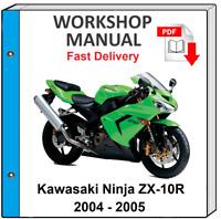 Kawasaki Ninja Zx 10r Manual De Servicio De Motocicleta 2011 2015 99924 1443 06 Ebay