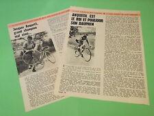 COUPURE DE PRESSE - JACQUES ANQUETIL - TOUR DE FRANCE SPORT CYCLISME ( D3 )