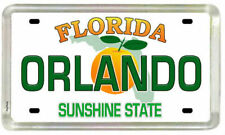 "Orlando Florida License Plate Small Fridge Acrylic Magnet 2"" x 1.25"""