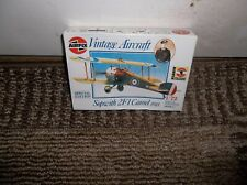 Vintage 1987 Airfix Sopwith 2F1 Camel Fighter 1918, 1/72 Complete Kit