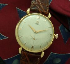 Exceedingly Handsome Men's 1950 Oversized Rose-Gold tone Omega Bumper Automatic