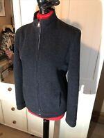 DOROTHY PERKINS Ladies Charcoal Grey Wool Blend Zip Jacket Size 10
