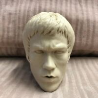 "Free Shipping 1/4 scale Blank Head Sculpt Bruce Lee unpainted Fit 18"" figure AU"