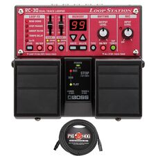 BOSS RC-30 Phrase Stereo Guitar Vocal Keyboard Looper Pedal + 20' XLR Cable