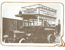 BIGLIETTO D'AUGURI: primo DOPPIO PIANALE Autobus C 1908 VINTAGE Card-EDEN Pub