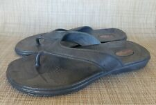 NWOT OKABASHI Gray Rubber Thong Toe Sandals Size LL Womens 11-12/Mens 9-10