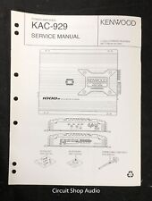 Original Kenwood KAC-929 Power Amplifier Service Manual
