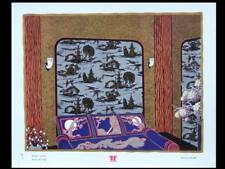 FRENCH ART DECO CHINOISERIE, WALLPAPER - LITHOGRAPH 1930 - CHARLES FOLLOT