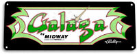 Galaga Classic Bally Midway Arcade Marquee Game Room Wall Decor Large Metal Sign