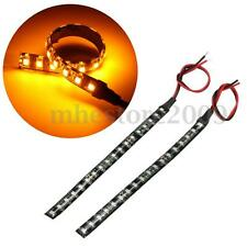 2x 6'' Motorcycle Flexible 18 LED Turn Signal Indicator Light Strip Amber Bright