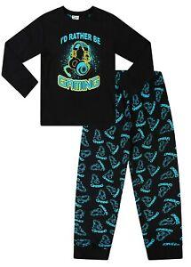 Boys Rather Be Gaming Black Yellow  Long Pyjamas 9 to 15 Years 1251