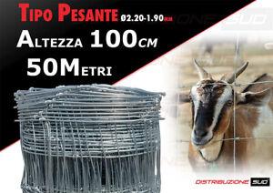 Rete Pastorale per Recinzione di Animali, Pecore, Ovini Altezza 100CM 50 Metri