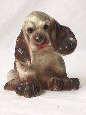 Vintage Chalkware Cocker Spaniel Dog Figurine Puppy