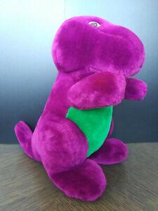 "RARE Vintage Original Barney Purple Dinosaur 90's Plush 10"" Dakin Lyons Group"