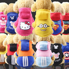 Cartoon Small Dog Clothes Pet Puppy Hoodied Dog Cat Apparel 10 Colors XS-XXL