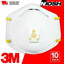 3M 8511 N95 Particulate Respirator W/Exhalation Valve 10 Masks/Box, EXP 2025