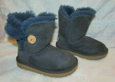Kid's Toddler UGG 1017400T Blue Leather Ankle Boots Size 10
