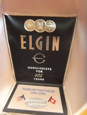Elgin Vintage 105 Year Watch display box1864-1969 mint