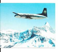 Airline issue postcard-Mount Cook Airlines HS748 aircraft