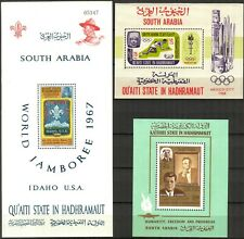 {054} Aden / Hadhramaut 1967 /8 Olympics Scouts Kennedy 3 S/S MNH**