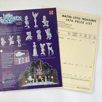 Vintage 1976 Mattel Toy Catalog Insert Advertising Price List Little Treasures