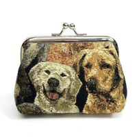 Puppy Dogs Tapestry Coin Purse Change Wallet Pouch Bag