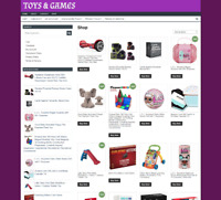 TOYS & GAMES UK WEBSITE - FULLY STOCKED - ONE YEARS HOSTING - NEW DOMAIN