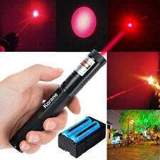 900Miles Red Laser Pointer Pen 18650 Battery Dual Charger 1Mw