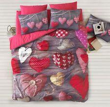 3D Valentine Love 100% Cotton Bedding Set Doona/Duvet Cover Set Full/Queen 4pcs