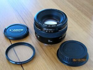 CANON EF 50mm f/1.4 USM Prime Lens - Excellent condition with UV filter