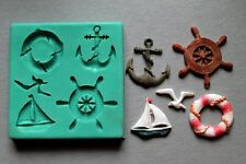 Silicone Mould SEE WITH ANCHORS AND RUDDERS 2 Cake Decorating Fondant / fimo