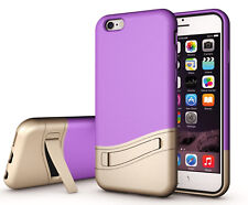 Huffii For iPhone 6S Case iPhone 6 Cover with Kickstand ShockProof Purple
