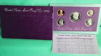 1988 S ANNUAL 5 Coin Proof Set with United States Mint Original Box and COA