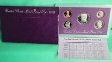 1988 ANNUAL 5 Coin Proof Set with United States Mint Original Box and COA