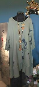 MADE IN ITALY floral lagenlook tunic  OSFA Size  14 16 18 20 22 PLUS ***NEW***