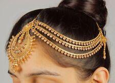 40 Traditional Designer Goldtone Indian Forehead Jewelry Maang Tikka Matha Patti