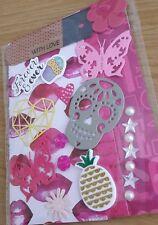 Kit de Artesanía chatarra tarjetas colección de recortes formas troqueladas Etiquetas Pegatinas de tarjeta de papel
