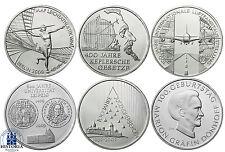Deutschland 6 x 10 Euro Gedenkmünzen 2009 bfr Komplettserie aller 6 Silbermünzen