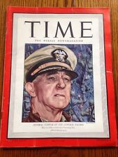 TIME Magazine February 7, 1944 - Admiral Turner Of Central Pacific- WWll-