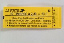 Marianne de BRIAT- 2,30 F rouge - Carnet 2614 C2 - daté 7.26/1/90 -conf 8