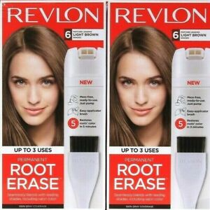 2 Boxes Revlon Permanent Root Erase Matches 6 Light Brown Shades Up To 3 Uses