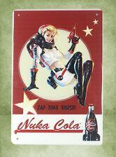 Us Seller- garden metal yard signs Fallout Nuka Cola girl tin metal sign