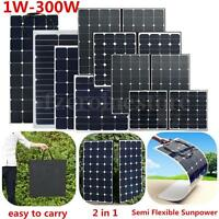 20W -100 200 300 Watt Mono Flexible Solar Panel Battery Charger for Caravan Boat