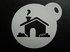 60mm house design cake, cookie, craft & face painting stencil